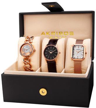 Akribos XXIV Womens Set Of 3 Watches