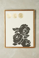 Anthropologie Contemporary Floral Wall Art