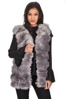 AX Paris Grey Faux Fur Gilet