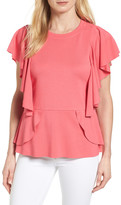 Halogen Ruffle Peplum Top (Regular & Petite)