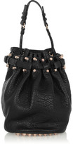 Alexander Wang Diego Textured-leather Shoulder Bag - Black