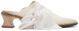 Cherevichkiotvichki White Leather Bow Mules