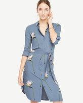 Ann Taylor Tall Tropical Shirt Dress