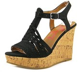 Jellypop Essie Women Open Toe Canvas Wedge Sandal.
