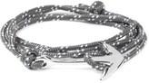 Miansai Grey/Blue Silver Tone Anchor Rope Bracelet