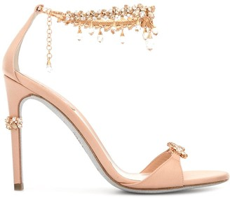 Rene Caovilla Crystal-Embellished Stiletto Sandals