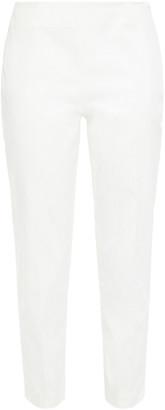 M Missoni Cropped Stretch-cotton Twill Slim-leg Pants