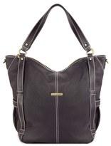 Timi & Leslie Infant 'Marcelle' Faux Leather Diaper Bag - Black