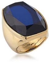 Trina Turk 14K Goldplated Brass Rectangular Cocktail Ring
