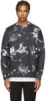 Diesel Black S-Joe Floral Print Pullover