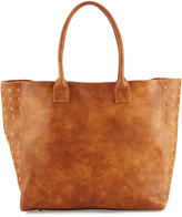 Neiman Marcus Large Grommet Tote Bag, Cognac