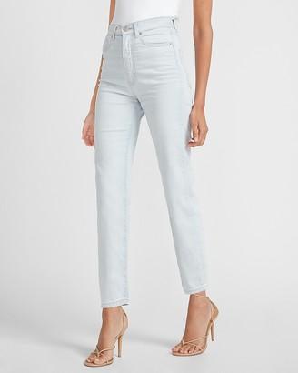 Express Super High Waisted Light Wash Slim Jeans