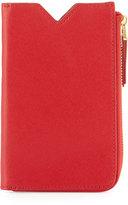 Neiman Marcus Leather Phone Case Zip Wallet, Red