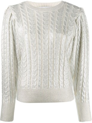 MSGM Metallic-Threading Knitted Jumper