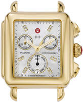 Michele 18mm Deco Diamond Dial Watch Head, Gold