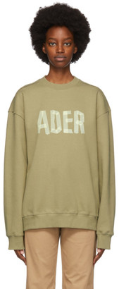 Ader Error Khaki Mask Sweatshirt