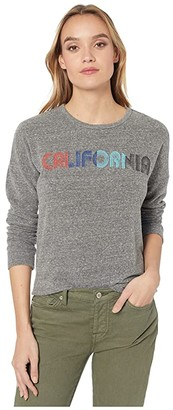 Original Retro Brand The California Super Soft Haaci Pullover (Heather Grey) Women's Clothing