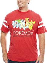 Pokemon Short Sleeve Crew Neck T-Shirt-Big and Tall