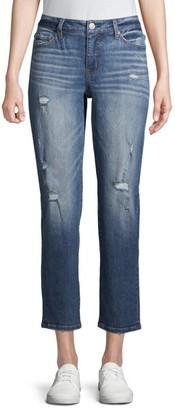 Time and Tru - Time and Tru Boyfriend Jeans - Walmart.com
