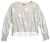 Menu Foil Print Sweater (Big Girls)