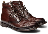 Officine Creative - Anatomia Cap-toe Distressed Leather Boots
