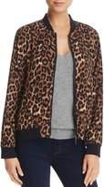 Cupio Leopard Print Bomber Jacket