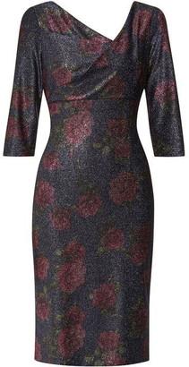 Gina Bacconi Abriella Floral Print Dress
