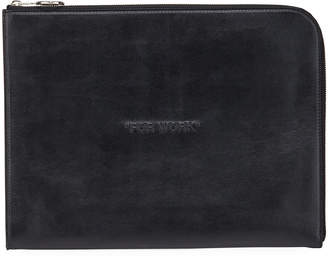 Off-White Off White Men's Embossed Leather Document Case