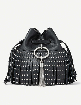 Jimmy Choo Callie drawstring leather bucket bag