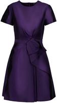 Raoul Bice Bow ruffled silk-blend twill mini dress