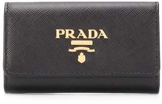 Prada logo plaque key holder