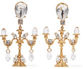 Dolce & Gabbana Gold-plated Swarovski Crystal Clip Earrings - one size