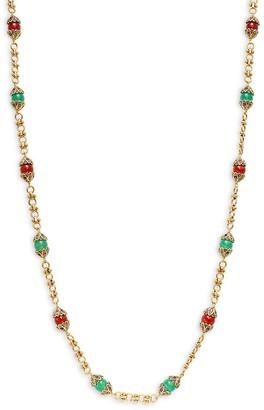 Heidi Daus Thoughtful Treasure Goldtone Crystal Glass Beaded Station Necklace