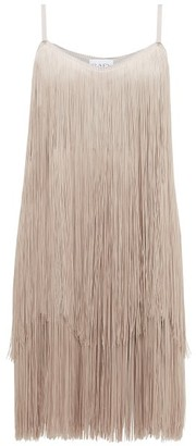 Raey Long Fringe Slip Dress - Womens - Grey