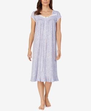 Eileen West Floral-Print Waltz Nightgown