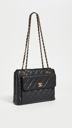 What Goes Around Comes Around Chanel Black Caviar Bag