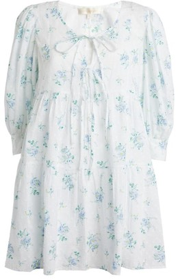 LoveShackFancy Floral Cotton Mini Dress