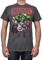 Hybrid Marvel Mens T-Shirt Avengers Shadows Captain America Hulk Thor Iron Man Print