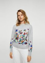 MANGO Floral embroidery sweater