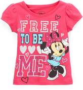 Children's Apparel Network Minnie Mouse 'Free to Be Me' Cap-Sleeve Tee - Toddler