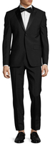 Givenchy Wool Solid Peak Lapel Suit