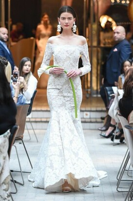 Sachin + Babi Long Sleeve Christina Ivory Bridal Gown