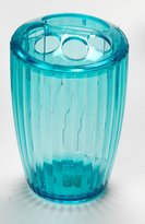 Carnation Home Fashions Ribbed Acrylic Toothbrush Holder