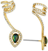 Rachel Roy Gold-Tone Abalone-Look Stone and Pavé Wrap Ear Climber with Cuff