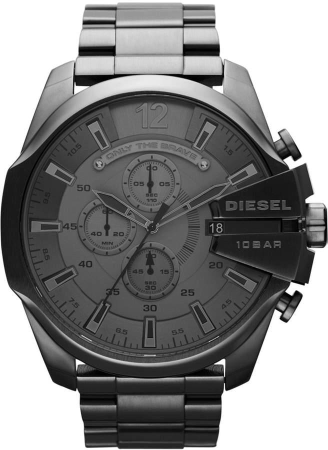 Diesel Men's Chronograph Gunmetal Ion-Plated Stainless Steel Bracelet Watch 51mm DZ4282