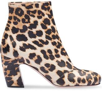 Miu Miu Crackled Leopard Print Boots