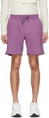 Leon Aime Dore Purple French Terry Logo Shorts