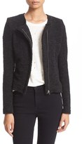 IRO Women's Asymmetrical Zip Knit Jacket
