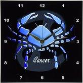 3dRose LLC Cancer Zodiac Sign Wall Clock, 10 by 10-Inch