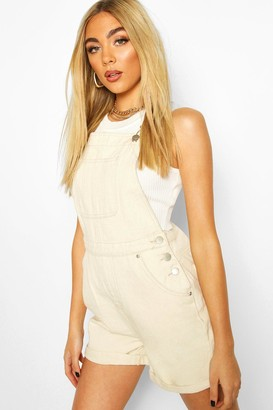 boohoo Denim Dungaree Short
